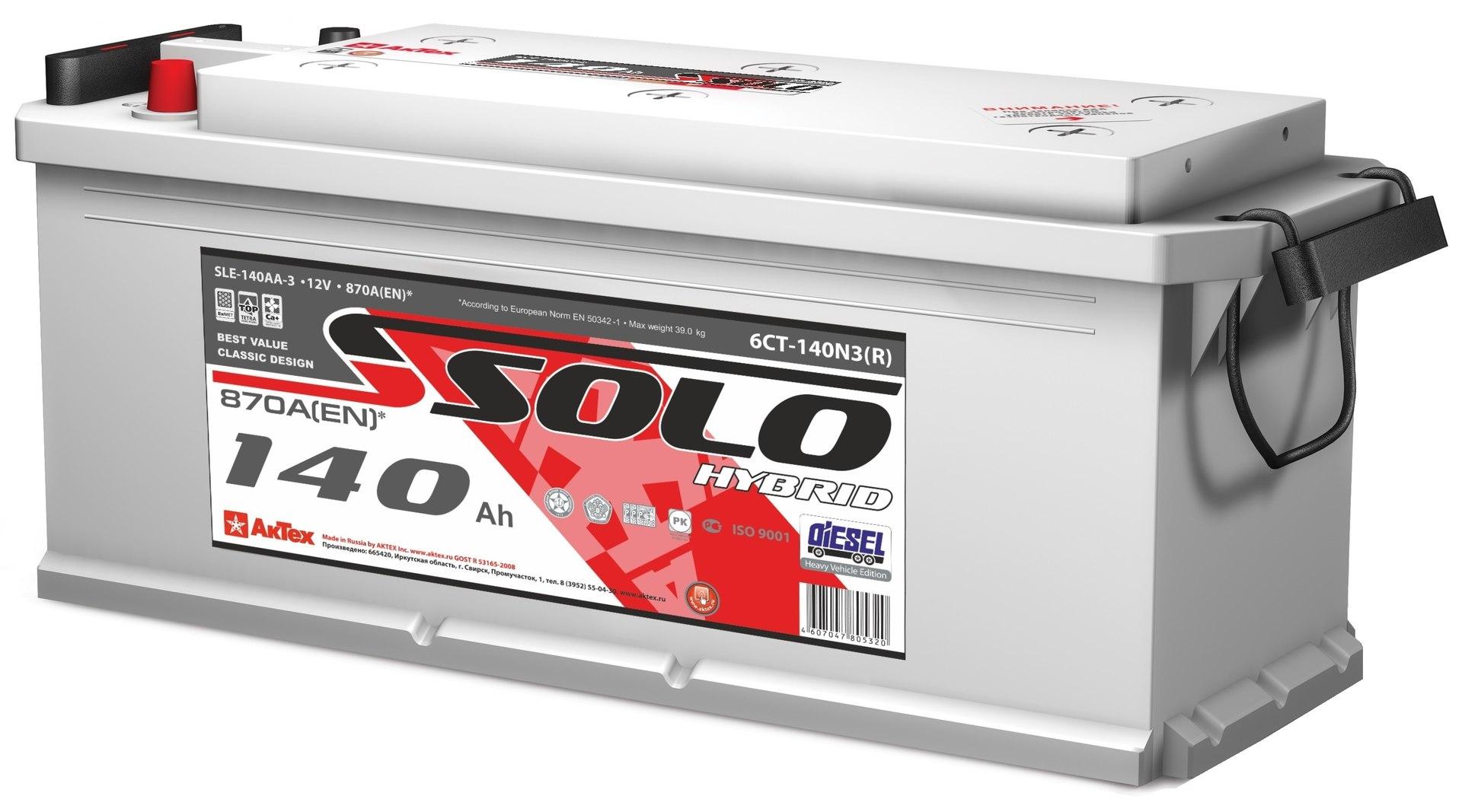 Аккумуляторы SOLO TT